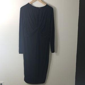 ASOS Curve black long sleeve dress size 14 NWT